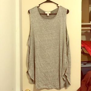 Forever 21 Plus+ Sleeveless grey tank with zipper